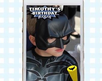 Snapchat GeoFilters, Birthday Snapchat Filters, Party Snapchat Filter, Custom Snapchat GeoFilter, Superhero Birthday Party, Superhero Filter