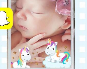 Snapchat GeoFilters, Birthday Snapchat Filters, Unicorn Snapchat Filter, Unicorn Snapchat GeoFilter, Rainbow Birthday Party Snapchat Filter