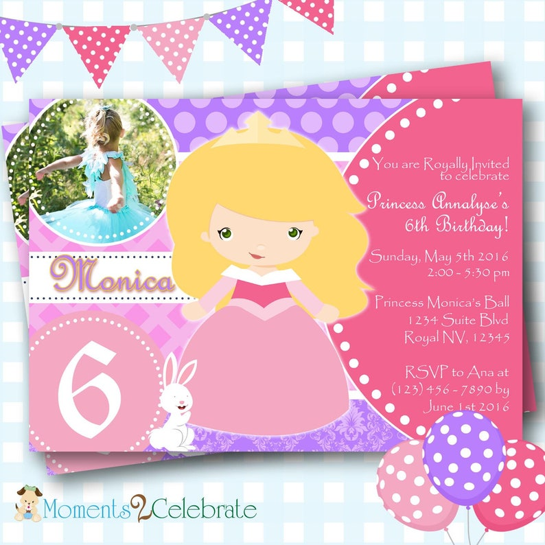 Sleeping Beauty Invitation Disney Aurora Invitations