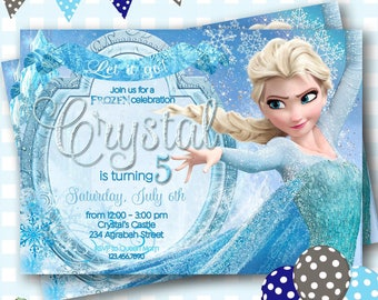 Elsa invitation Etsy