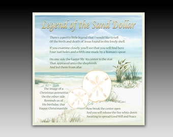 image about The Legend of the Sand Dollar Printable called Legend of sanddollar Etsy