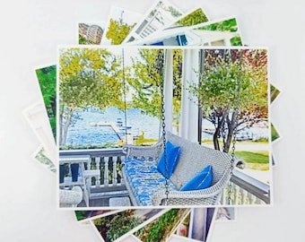 Porch note cards - Four sets of 6 to choose from... 6 different Beautiful Cottage, Summer Garden Photographs in each set.