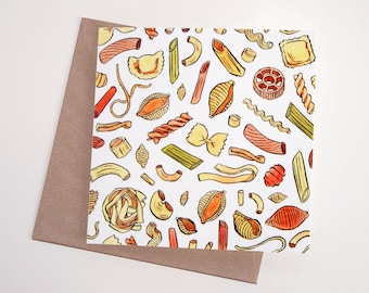 Pasta Art Greeting Card | Any Occasion | Blank Inside