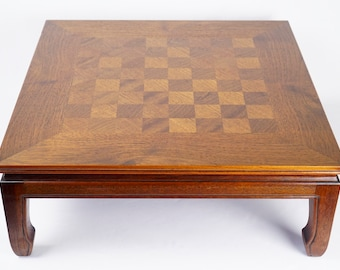MING CHINESE CHESS Board Table   Walnut Rare Vintage Mid Century Modern