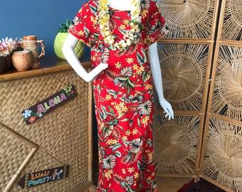 f6707db2e1bd0 Island Aloha Wear. Beautiful soft cotton Hawaiian mu'u mu'u / maxi dress