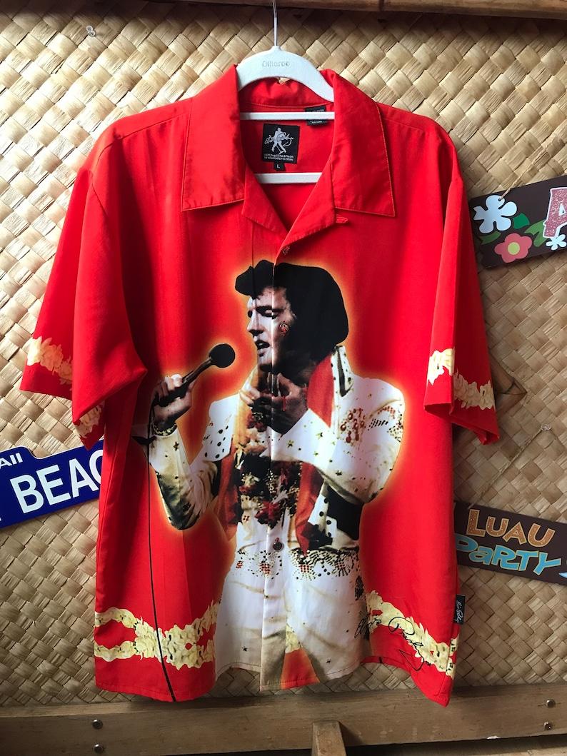 1d539ca99 Elvis Wonderful vintage Elvis Aloha shirt shirt marked | Etsy
