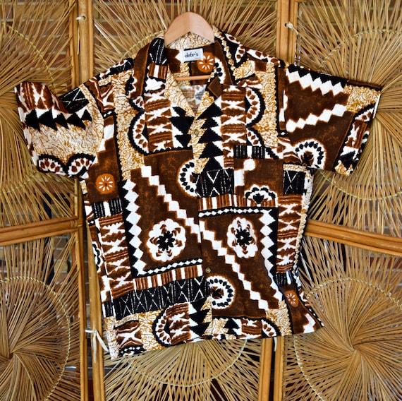 The ultimate tiki time Hawaiian Aloha shirt. Debr's Waikiki Size Large vrMCuILo