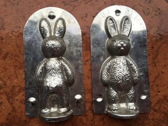 Rabbit Mold VINTAGE chocolate antique candy tin bunny cute little sweet sculptur