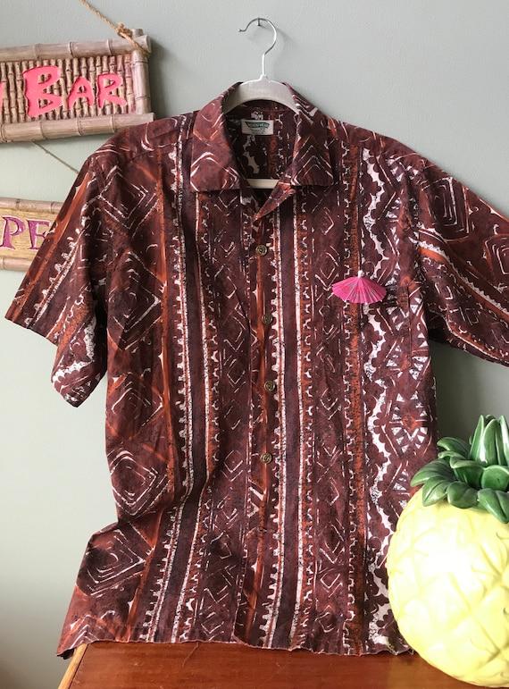 Fabulous Aloha shirt.  Wonderful vintage tiki time