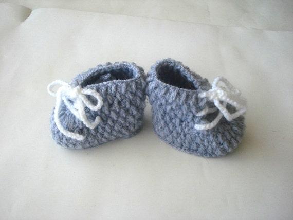 Gehäkelte Babyschuhe Grau Grau Baby Schuhe Häkeln Baby Etsy