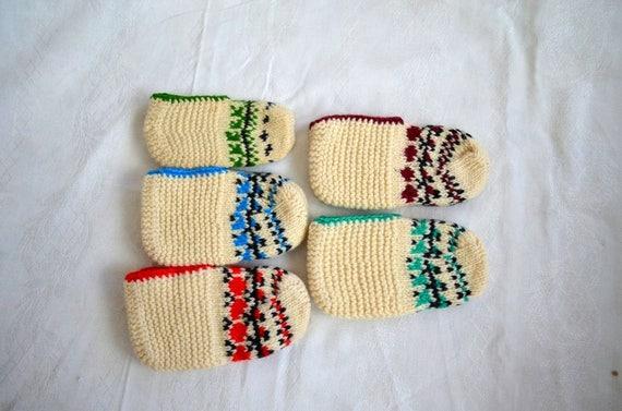 Wolle Kinder Hausschuhe Kleinkind Kind Stricken Socken Etsy