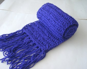 ultra violet Purple Extra long Scarf, neckwarmer, chunky thick cowl, gift for Men Women, knit mens scarf, womens scarf