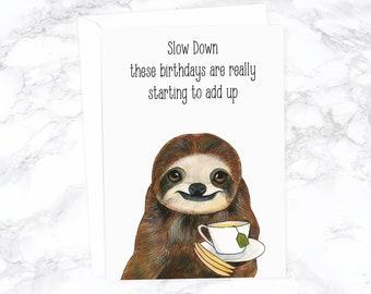 Funny Birthday Card Boyfriend Animal Dad Cute Friend Watercolor Rude