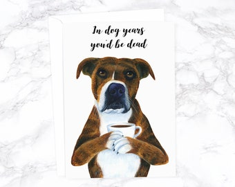 Funny Birthday Card Boyfriend Animal Rude Dog Best Friend Husband