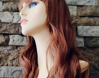 Karolyn //  Ginger Curly Full Synthetic Wig
