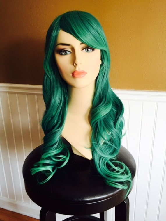 Ladies Quality Synthetic Wigs St Patricks Day Paddys Green Short Long Mermaid