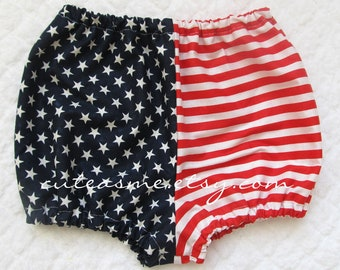 28154ec0e08c5 Flag Baby Bloomers Stars and Stripes America Red White Blue Diaper Cover  Panties Photo Shoot Cake Smash Infant Toddler Birthday Photoprop