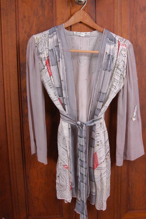 Vintage Unique Scarf Wrap Shirt by Barbara Woods