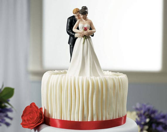 Wedding Cake Topper Bride And Groom Figurines Yes to the Rose