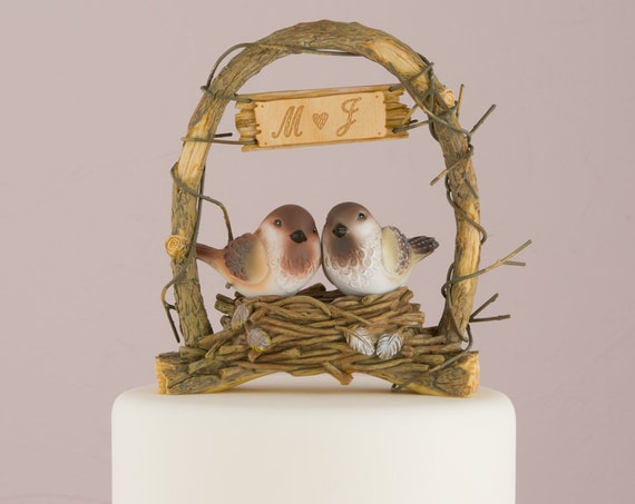 Love Bird Wedding Cake Top, Love Nest Birds Wedding Cake Topper, Wedding Cake Top, Cake Topper for Wedding Cake