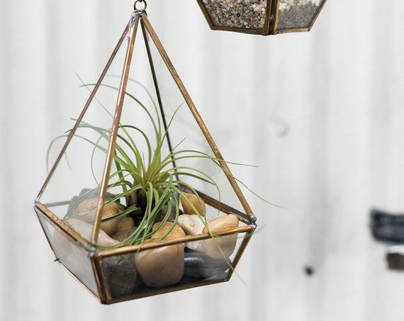 1 Hanging vase, Hanging Prism Lantern Vase, Wedding Vases, Event Floral Containers