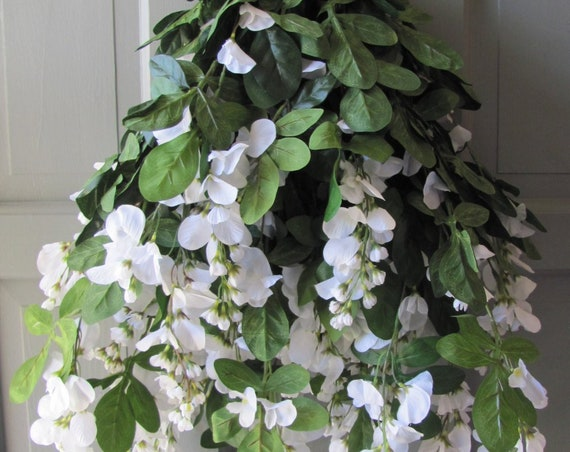White Wisteria Bush, 45 Branches Wisteria, Flowers Decorations for Archways and Gazebos