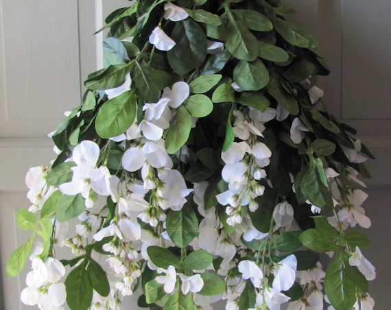 Wedding Arbor Flowers, White Wisteria Bush, 45 Branches Wisteria, Flowers Decorations for Archways and Gazebos, Party Flowers