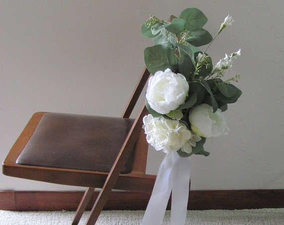 Wedding Decorations, Wedding Flowers, Wedding Aisle Chair Flowers, Ceremony Decorations, Aisle Flowers, Artificial Flowers, Arrangements