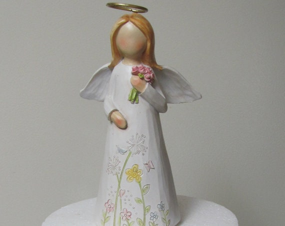 Angel Cake Topper, 1st Communion Angel Cake Top, Christening Cake Top Angel, Religious Cake Topper, Baptism Cake Topper