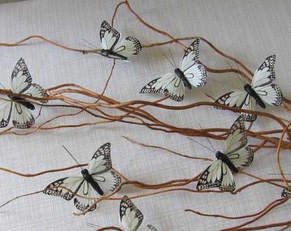 Craft Butterflies, Wedding Butterflies, 4 Inch Butterfly, Neutral Color Butterflies, Home Decor Craft Butterflies, Wreath Butterflies