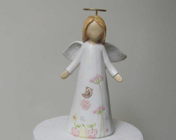 1st Communion Cake Topper, Angel Cake Top, Religious Cake Top, Cake Top Angels, Angel Floral Accents