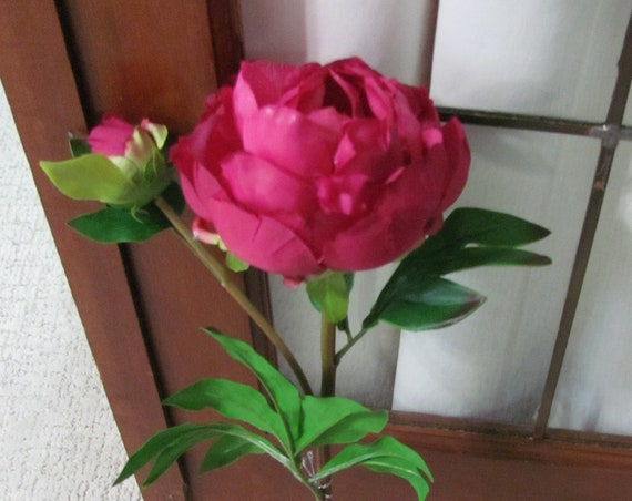 Peony flower, Wedding Flowers, Bouquet Flower, Artificial Peony, Magenta Peony, Wreath Flowers, Hat Flower,Vase Flowers, Faux Floral Stems