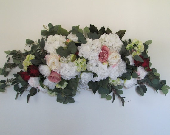 Wedding Arbor Flowers, Arch Flowers, Wedding Flowers, Wedding Ceremony Decoration, Floral Swag