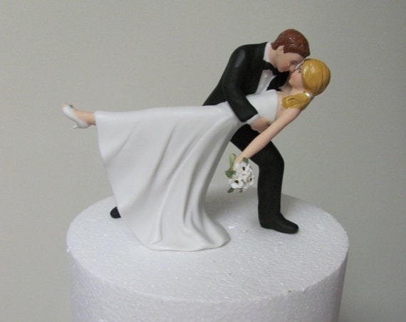 Romantic Dance Wedding Cake Topper, Bride and Groom Cake Top, Romantic Dip Wedding Cake Topper, Wedding Cake Tops
