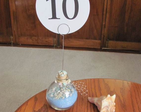 Reception Table Number Holders, Beach Wedding Decorations, Table Decor, Beach Wedding Stationery Holder, Beach Wedding Photo Holders