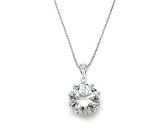 Bridal, Prom, Weddings or Bridesmaids Bling CZ Necklace Pendant 4083N