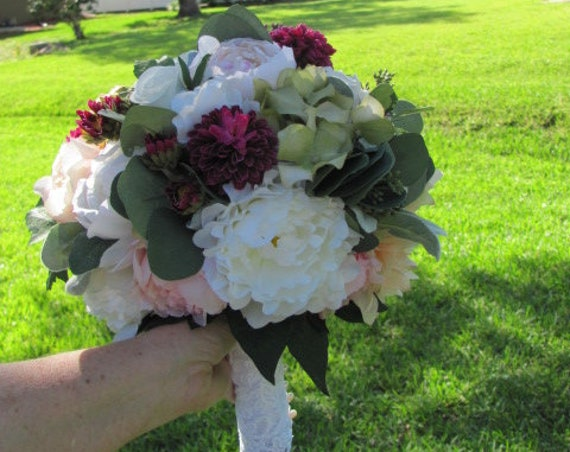 Wedding Bouquet, Brides Bouquet, Handmade Bouquet, Pretty Mixed of Preserved and Artificial Flowers, Bridal Bouquet, Wedding flowers