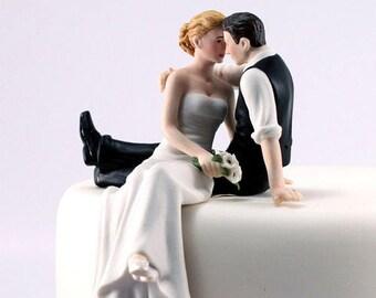 Wedding Cake Topper, Wedding Cake Top, Look of Love Wedding Cake Topper, Bride and Groom Cake Topper