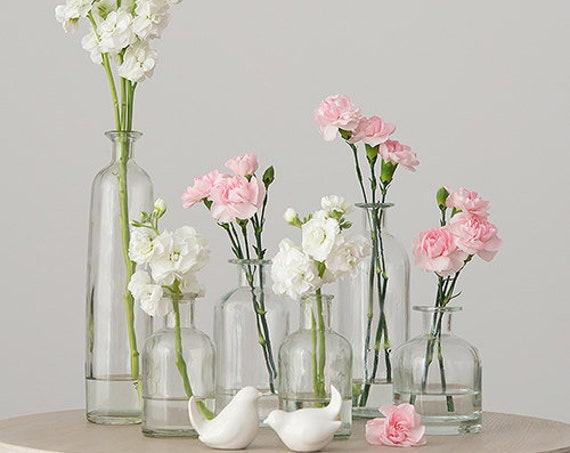 Wedding Bottle Vases,DIY Bride Vases, DIY Reception Table Centerpieces, Centerpiece Bottles, Bottle Vases, Bottles to Paint, Craft Bottles
