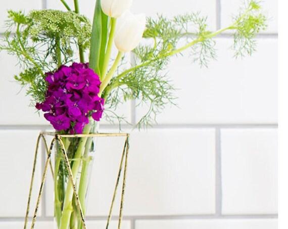 Modern Vase, Wedding Reception Vase, Bud Vase, Glass Cone Insert Vase