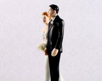 Wedding Cake Topper, The Love Pinch Bride and Groom Cake Top, Wedding Cake Tops, Funny Wedding Cake Toppers