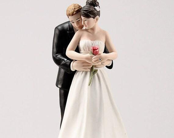 Yes to the Rose Wedding Cake Top, Wedding Cake Top, Wedding Cake Top Figurines, Bride Groom Cake Top
