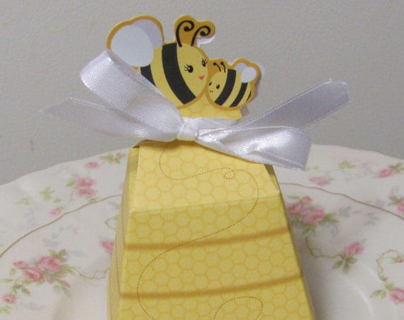 Party Favor Boxes, Bee Party Boxes, Bee Candy Boxes, Party Favor Bee Theme Box