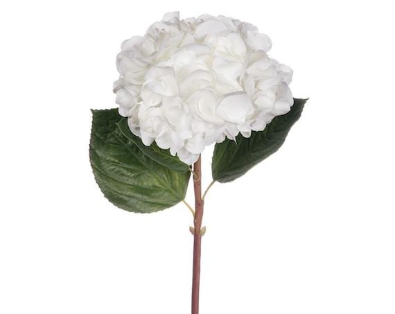 White Hydrangea, Real Touch Hydrangea Flowers, Wedding Hydrangeas, Artificial Flowers, Faux White Hydrangea Stems, Floral Stems