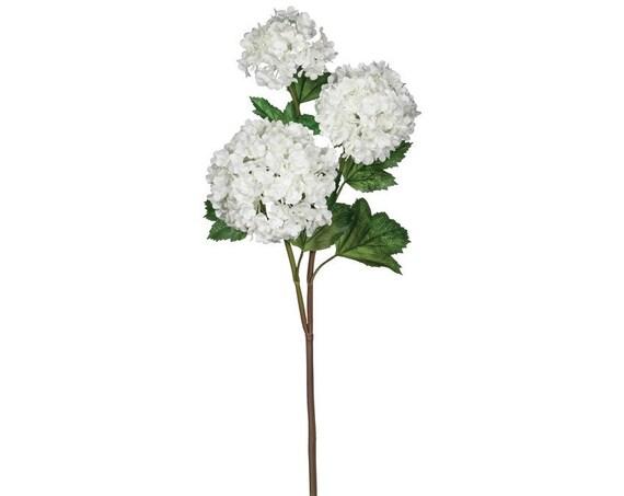 Wedding Flowers, Snowball Flowers, Viburnum Flowers, Artificial Flowers, Life Like Wedding Floral Stems