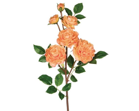 Peach Rose Stem, Artificial Rose Flowers, Wedding Roses, Peach Flowers, Craft Flowers, Life Like Roses