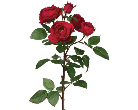 Red Rose Spray, Faux Red Rose Stem, Artificial Flowers, Red Roses, Wedding Roses, Craft Flowers, Craft Roses