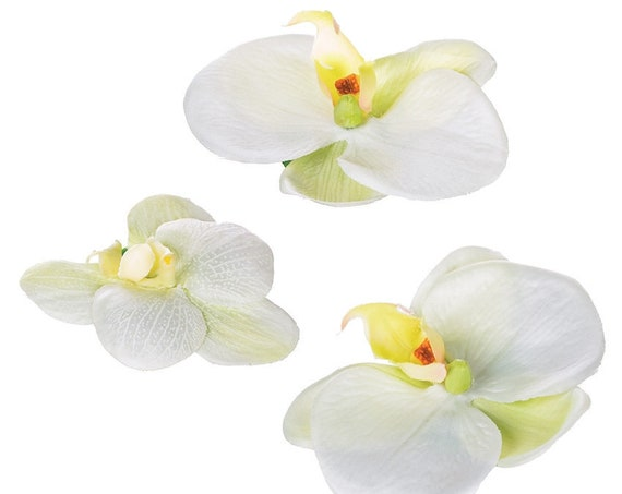 Wedding Centerpiece Flowers, 12 Floating Orchids, 3 Inch Size Floating Phalaenopsis Orchids, Faux Floating Flowers, Floating Flowers