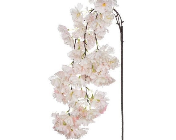 Weeping Cherry Stem, Artificial Floral Stems, Cherry Stems, Faux Flowers, Wedding Reception Floral Stems, Craft Flowers, Flower Arranging
