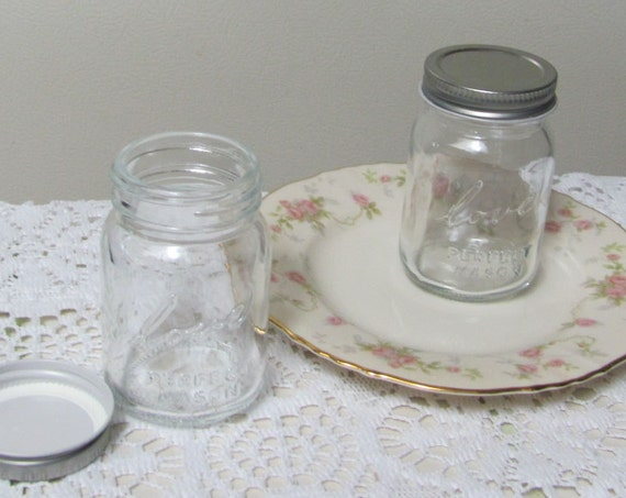 Mini Mason Jars, Wedding Favor Jars, Love Written on Front, Includes Shipping, Favor Jars, Jars for Crafts, Gift Jars